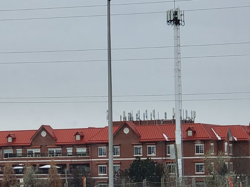cell tower on roof