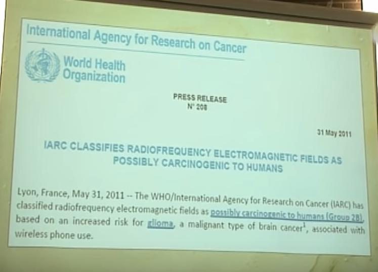 emf classed as class 2B carcinogen